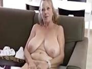 big fat butt granny shows off her undressed body