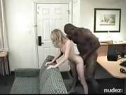 Hubby lets her try a black monster