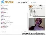 Omegle Games Part 2 - Hot brunette fuck