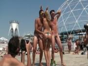 Chick Gone Wild Naked Dancing At A Beach In Greece
