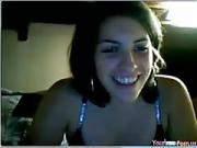 Teasing sexy brunette teen Shows Off Her Tits And Pussy On live video chat
