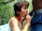 Skinny White Girl Blows A ebony fuck Guy039s Cock On A Bench In Nature