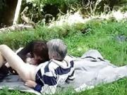 Older exgf couple gets dirty outdoors