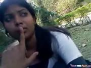 Ponytailed Indian Teen Lets Her BF Play With Her Big Tits In The Park