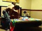 Player sets up a cam to tape his sex session with a hot girl for his one night stand girles collection