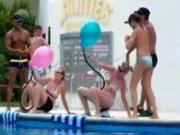 Balloon Popping Cowgirl Sex Game On Vacation
