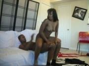 Horny Ebony American Couple Has Sex On The Sofa