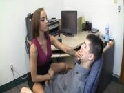 Naughty Bitch Enjoys To Sexualy Abuse Her Employers