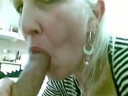 Experienced White Milf Lets Her Man Moan Of Pleasure With A cock licking