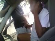 Bored ebony Girl Jerks And Sucks Her Guy In His Car