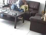 slutty matures couple amature wife 69 sofa sextape