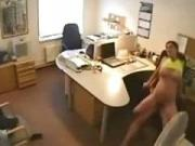 secretly watching security cam office sex