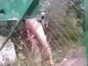 Crazy Naked Guy Suddenly Shows Up In Nature And Jerks Off