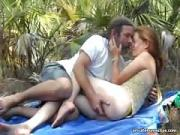 kitchen sex and her loved one fucking outdoors
