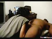 black Girl With Big Booty Sucks And Rides Her Man On Some Furniture