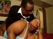 huge boobs Ebony Girl Gets Doggystyle Fucked And Moans Loud