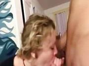Her first cockpiercing cock licking i unloaded on her face