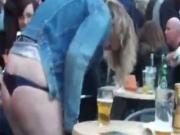 Fucked Up Girl Flashes Her Thong In Public And Gets Taken Away By The Cops