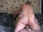 blonde Milf Rides Her Man To A cum facial And Sticks It Back In Her Pussy