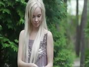 blonde perky boobs undressing