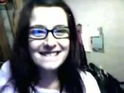 chubby teen Nerdy Girl Flashes Her Tits And Rubs Her Pussy On A Chair