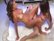 2 sluts fuck each other hard HD