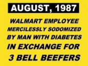 Walmart Employee Gets butt fuck Fucked For 3 Bell Beefers