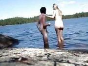 Having sex with the gf on a rock near the leak
