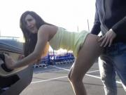 Dirty Slut Gets Her Ass Fucked At The Public Parking Lot
