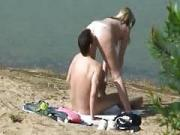voyeur clip of a natural hairy pussy couple fucking
