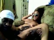 Ebony Couple Has Oral And Doggystyle Sex In The Living Room