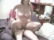 Big Boobed Brunette Wildly Rides Her BF And Has Missionary Sex