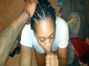 ebony fuck Ghetto Partygirl Sucks And Spits The cum in mouth On His Dick