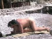 mature Couple Has Oral And Doggystyle Sex At The Beach