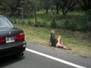 Girl Is Being Fucked By A Ghost On The Side Of The Road