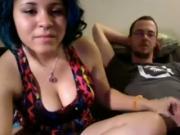 Dirty Talking Girl Fucks Her Nerdy BF For Strangers On cam