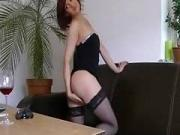 Im posing in stockings in my sexy amatur porn video
