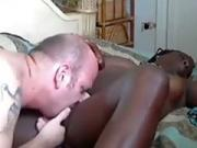 White guy eats out his black butts gfs pussy for 30 minutes