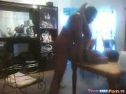 black boobs natural hairy pussy Couple Makes A Sextape On The Dining Table