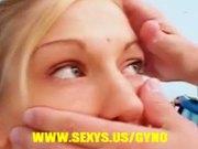 Cute girl hard nipples at gyno exam