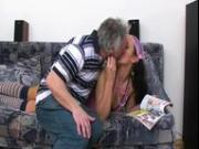 Lucky Old Man Fucks This Babe In The Ass