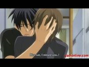 Hentai gay couples kissing and sleep together