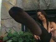 Shy Love pantyhose tease