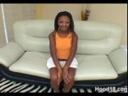 Sexy black school girl seduces 2 men