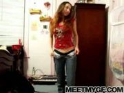Girlfriend does a webcam strip tease