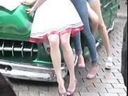 models in heels