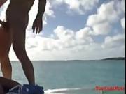 horny hot babe fucking hard cock on boat