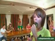 Sorority college girl deepthroat contest and suck and fuck