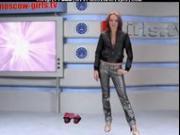 Russian Moskow Babe Tv Alena russian cumshots swallow