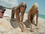 Kacey and Kara  Blonde Beach Brats Get Blasted